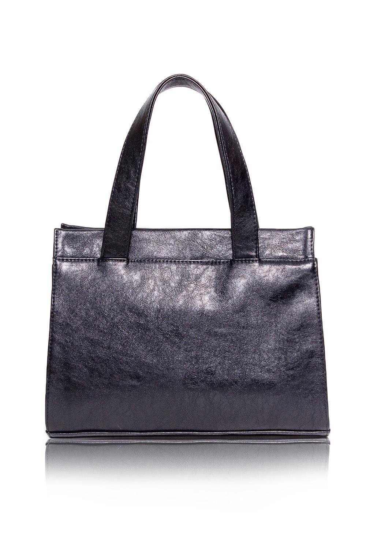 СумкаКлассические<br>Женские сумки бренда DINESSI - это стильные аксессуары, которые по достоинству оценят представительницы прекрасного пола.  Сумка классическая с застежкой на молнию, двумя короткими ручками и длинной, регулируемой, съемной лямкой. На задней части  сумки карман на молнии. Внутри 3 отделения, одно из них на молнии, карман на молнии и два накладных кармана.   Цвет: черный.  Размеры: Высота - 25,5 ± 1 см Длина - 33,5 ± 1 см Ширина - 10,5 ± 1 см Длина ручек - 48 ± 1 см<br><br>Отделения: 3 отделения<br>По материалу: Искусственная кожа<br>По размеру: Средние<br>По рисунку: Однотонные<br>По способу ношения: В руках,На запастье,На плечо,Через плечо<br>По степени жесткости: Мягкие<br>По типу застежки: С застежкой молнией<br>По элементам: Карман на молнии,Карман под телефон,С ремнями<br>Ручки: Длинные,Короткие,Регулируемые<br>По форме: Прямоугольные<br>Размер : UNI<br>Материал: Искусственная кожа<br>Количество в наличии: 1