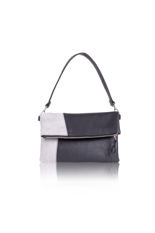 КлатчКлатчи<br>Женские сумки бренда DINESSI - это стильные аксессуары, которые по достоинству оценят представительницы прекрасного пола.  Сумка quot;клатчquot; с застежкой на молнию и отстегивающейся, короткой лямкой. Внутри два накладных кармана и карман на молнии.   В изделии использованы цвета: черный, серый.  Размеры: Высота - 18 ± 1 см Длина - 28 ± 1 см Ширина - 1,5 ± 1 см Длина ручек - 52 ± 1 см<br><br>По материалу: Замша,Искусственная кожа<br>По размеру: Средние<br>По рисунку: Однотонные,Рептилия<br>По способу ношения: В руках,На запастье,На плечо<br>По степени жесткости: Мягкие<br>По типу застежки: С застежкой молнией<br>По элементам: Карман на молнии,Карман под телефон,С ремнями<br>Ручки: Короткие<br>По стилю: Повседневный стиль<br>По форме: Прямоугольные<br>Размер : UNI<br>Материал: Искусственная кожа<br>Количество в наличии: 1