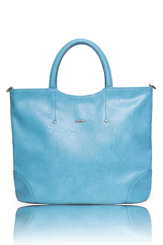 СумкаКлассические<br>Женские сумки бренда DINESSI - это стильные аксессуары, которые по достоинству оценят представительницы прекрасного пола.  Сумка с застежкой на молнию, с клапаном и кнопкой. Две короткие ручки. На задней части сумки карман на молнии. Внутри два накладных кармана и карман на молнии.   Цвет: голубой.  Размеры: Высота - 32 ± 1 см Длина - 37 ± 1 см Ширина - 10 ± 1 см Длина ручек - 35 ± 1 см<br><br>По материалу: Искусственная кожа<br>По размеру: Крупные,Средние<br>По рисунку: Однотонные<br>По силуэту стенок: Квадратные,Прямоугольные<br>По способу ношения: В руках,На запастье,На плечо,Через плечо<br>По степени жесткости: Мягкие<br>По типу застежки: С застежкой молнией<br>По элементам: Карман на молнии,Карман под телефон,С ремнями<br>Ручки: Длинные,Короткие,Регулируемые<br>Размер : UNI<br>Материал: Искусственная кожа<br>Количество в наличии: 1