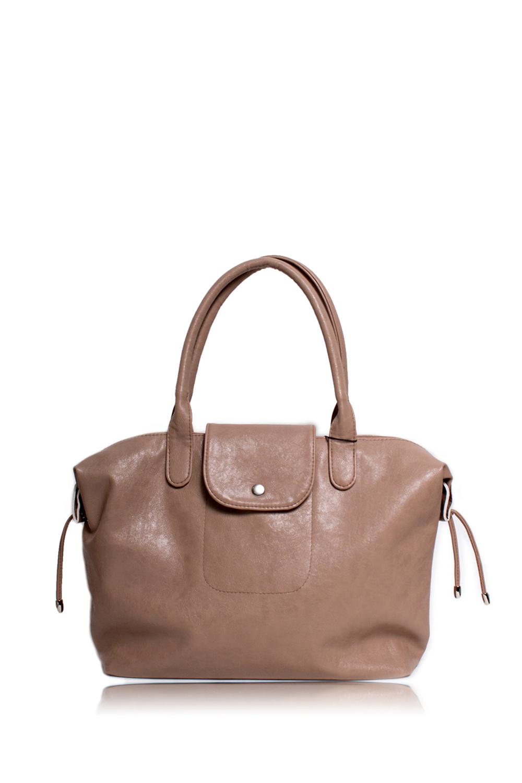 СумкаКлассические<br>Женские сумки бренда DINESSI - это стильные аксессуары, которые по достоинству оценят представительницы прекрасного пола.  Сумка с застежкой на молнию, с клапаном и кнопкой. Две короткие ручки. На задней части сумки карман на молнии. Внутри два накладных кармана и карман на молнии.   Цвет: бежевый.  Размеры: Высота - 30 ± 1 см Длина - 43 ± 1 см Ширина - 10,5 ± 1 см Длина ручек - 50 ± 1 см<br><br>По материалу: Искусственная кожа<br>По размеру: Крупные<br>По рисунку: Однотонные<br>По способу ношения: В руках,На плечо<br>По степени жесткости: Мягкие<br>По типу застежки: На кнопках,С застежкой молнией<br>По элементам: Карман на молнии,Карман под телефон<br>Ручки: Короткие<br>По форме: Прямоугольные<br>Размер : UNI<br>Материал: Искусственная кожа<br>Количество в наличии: 1