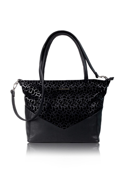 СумкаКлассические<br>Женские сумки бренда DINESSI - это стильные аксессуары, которые по достоинству оценят представительницы прекрасного пола.  Сумка quot;классическаяquot; с застежкой на молнию и двумя короткими ручками. На задней части сумки карман на молнии. Внутри два накладных кармана и карман на молнии.   Цвет: черный.  Размеры: Высота - 28 ± 1 см Длина по верху - 41 ± 1 см Длина по дну - 31 ± 1 см Ширина - 11 ± 1 см Длина ручек - 39 ± 1 см<br><br>По материалу: Искусственная кожа<br>По размеру: Средние<br>По рисунку: Фактурный рисунок<br>По способу ношения: В руках,На запастье,На плечо<br>По степени жесткости: Мягкие<br>По типу застежки: С застежкой молнией<br>По элементам: Карман на молнии,Карман под телефон,С декором,С ремнями<br>Ручки: Длинные,Короткие<br>По форме: Трапециевидные<br>Размер : UNI<br>Материал: Искусственная кожа<br>Количество в наличии: 1