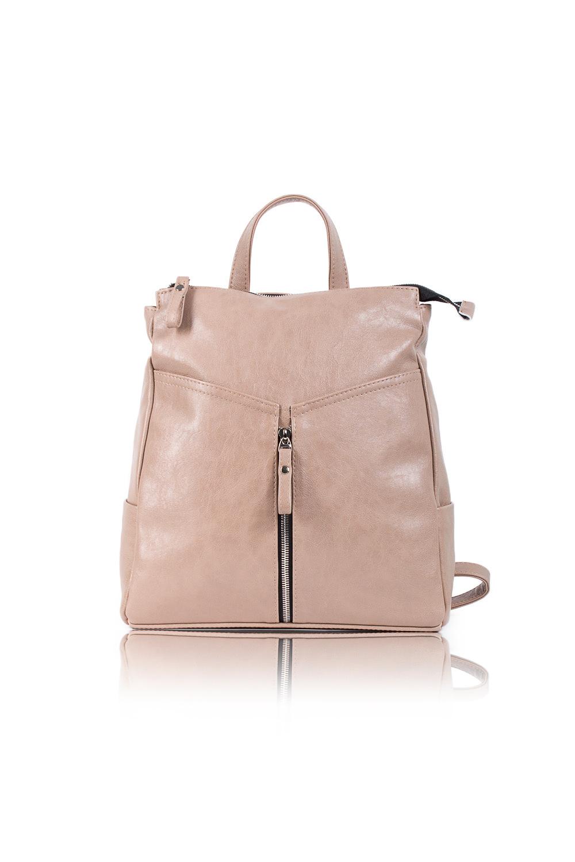 РюкзакРюкзаки<br>Женский рюкзак бренда DINESSI - это стильный аксессуар, который по достоинству оценят представительницы прекрасного пола.  Рюкзак с застежкой на молнию. На передней части сумки вертикальный карман на молнии и два накладных кармана по бокам. Внутри два накладных кармана и карман на молнии. Короткая ручка и две регулируемые, отстегивающиеся лямки.  Цвет: бежевый. Подклад может отличаться от представленного на фото.  Размеры: Высота - 33 ± 1 см Длина - 29 ± 1 см Глубина - 10 ± 1 см<br><br>По материалу: Искусственная кожа<br>По размеру: Средние<br>По рисунку: Однотонные<br>По силуэту стенок: Прямоугольные,Трапециевидные<br>По способу ношения: В руках,На плечо,Через плечо<br>По степени жесткости: Мягкие<br>По типу застежки: С застежкой молнией<br>По элементам: Карман на молнии,Карман под телефон<br>Ручки: Тонкие<br>Размер : UNI<br>Материал: Искусственная кожа<br>Количество в наличии: 1