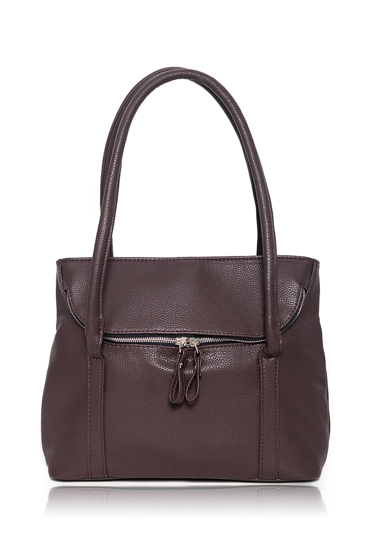 СумкаКлассические<br>Женские сумки бренда DINESSI - это стильные аксессуары, которые по достоинству оценят представительницы прекрасного пола.  Сумка с клапаном, застегивающимся на молнию и двумя ручками. Внутри два накладных кармана и карман на молнии.  Цвет: коричневый.  Размеры: Высота - 24,5 ± 1 см Длина - 32 ± 1 см Ширина - 11 ± 1 см Длина ручек - 71 ± 1 см<br><br>Отделения: 1 отделение<br>По материалу: Искусственная кожа<br>По размеру: Средние<br>По рисунку: Однотонные<br>По способу ношения: В руках,На запастье,На плечо<br>По степени жесткости: Мягкие<br>По типу застежки: С застежкой молнией,С клапаном<br>По форме: Прямоугольные<br>По элементам: Карман на молнии,Карман под телефон,С декором,С отделочной фурнитурой<br>Ручки: Короткие<br>Размер : UNI<br>Материал: Искусственная кожа<br>Количество в наличии: 1