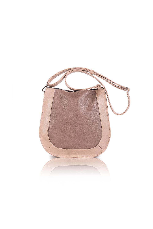 СумкаКлассические<br>Женские сумки бренда DINESSI - это стильные аксессуары, которые по достоинству оценят представительницы прекрасного пола.  Сумка с застежкой на молнию и длинной, регулируемой лямкой. Внутри два накладных кармана и карман на молнии.  Цвет: бежевый, коричневый.  Размеры: Высота - 26 ± 1 см Длина - 26 ± 1 см Ширина - 6,5 ± 1 см<br><br>Отделения: 1 отделение<br>По материалу: Искусственная кожа<br>По размеру: Средние<br>По рисунку: Однотонные<br>По способу ношения: В руках,На плечо,Через плечо<br>По степени жесткости: Мягкие<br>По типу застежки: С застежкой молнией<br>По элементам: Карман на молнии,Карман под телефон,С декором,С ремнями<br>Ручки: Длинные,Регулируемые<br>По форме: Полукруглые<br>Размер : UNI<br>Материал: Искусственная кожа<br>Количество в наличии: 1