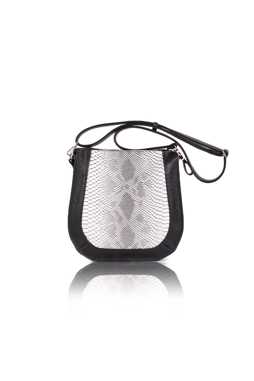 СумкаКлассические<br>Женские сумки бренда DINESSI - это стильные аксессуары, которые по достоинству оценят представительницы прекрасного пола.  Сумка с застежкой на молнию и длинной, регулируемой лямкой. Внутри два накладных кармана и карман на молнии.  Цвет: черный, серый (рептилия).  Размеры: Высота - 26 ± 1 см Длина - 26 ± 1 см Ширина - 6,5 ± 1 см<br><br>Отделения: 1 отделение<br>По материалу: Искусственная кожа<br>По размеру: Средние<br>По рисунку: Рептилия,Цветные<br>По способу ношения: В руках,На плечо,Через плечо<br>По степени жесткости: Мягкие<br>По типу застежки: С застежкой молнией<br>По элементам: Карман на молнии,Карман под телефон,С декором,С ремнями<br>Ручки: Длинные,Регулируемые<br>По форме: Полукруглые<br>Размер : UNI<br>Материал: Искусственная кожа<br>Количество в наличии: 1