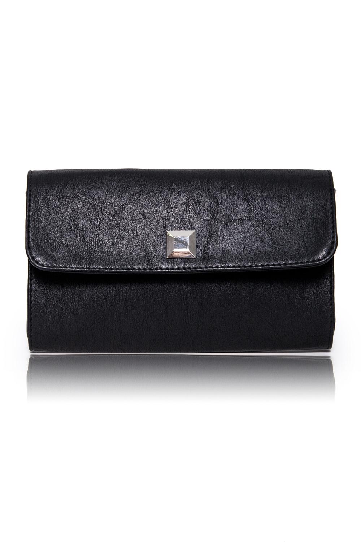 КлатчКлатчи<br>Женские сумки бренда DINESSI - это стильные аксессуары, которые по достоинству оценят представительницы прекрасного пола.  Клатч с клапаном и застежкой на магнит. Внутри карман на молнии.   Цвет: черный.  Размеры: 26 * 15,5 * 5 ± 1 см<br><br>Отделения: 1 отделение<br>По материалу: Искусственная кожа<br>По размеру: Средние<br>По рисунку: Однотонные<br>По способу ношения: В руках<br>По степени жесткости: Полужесткие<br>По типу застежки: На магните<br>По элементам: Карман на молнии,Карман под телефон,С декором,С отделочной фурнитурой<br>По стилю: Повседневный стиль,Нарядный стиль<br>По форме: Прямоугольные<br>Размер : UNI<br>Материал: Искусственная кожа<br>Количество в наличии: 1