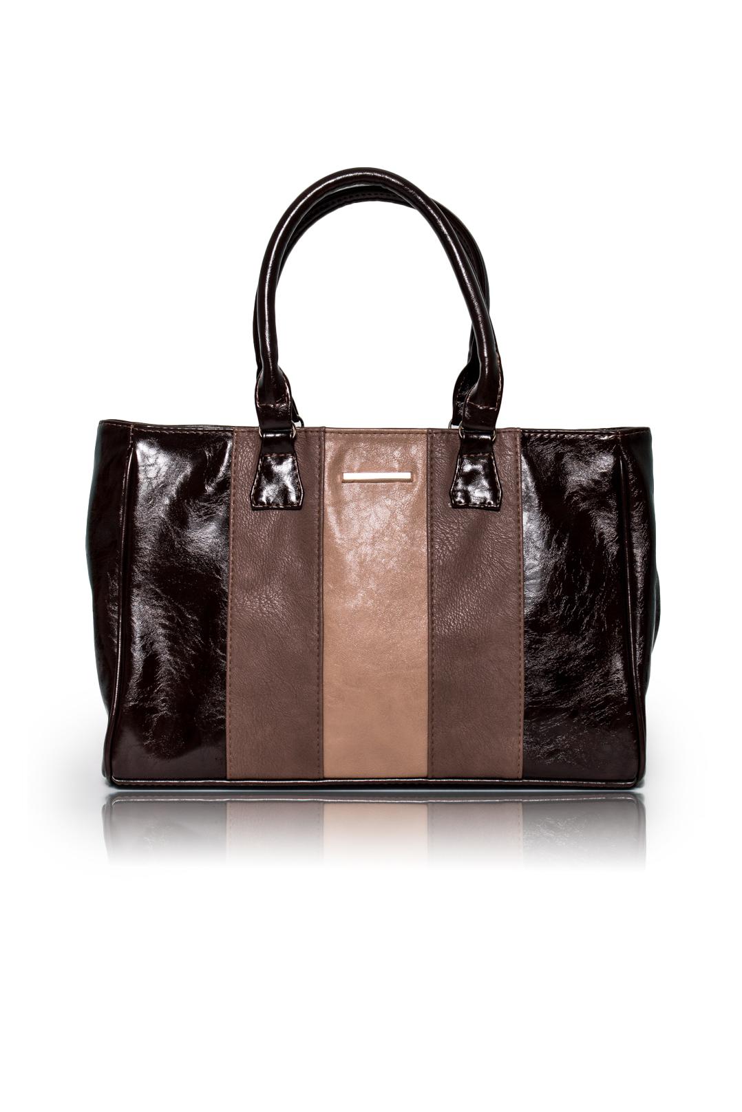 СумкаКлассические<br>Женские сумки бренда DINESSI - это стильные аксессуары, которые по достоинству оценят представительницы прекрасного пола.  Сумка классическая с застежкой молнией и двумя короткими ручками. На задней части сумки карман на молнии. Внутри два накладных кармана и карман на молнии.  Цвет: оттенки коричневого.  Размеры: Высота - 25 ± 1 см Длина - 35,5 ± 1 см Ширина - 9 ± 1 см Длина ручек - 45 ± 1 см<br><br>Отделения: 1 отделение<br>По материалу: Искусственная кожа<br>По размеру: Средние<br>По рисунку: Цветные<br>По силуэту стенок: Прямоугольные<br>По способу ношения: В руках,На запастье,На плечо<br>По степени жесткости: Мягкие<br>По типу застежки: С застежкой молнией<br>По элементам: Карман на молнии,Карман под телефон,С декором<br>Ручки: Короткие<br>Размер : UNI<br>Материал: Искусственная кожа<br>Количество в наличии: 1