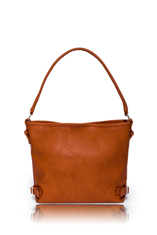 СумкаСумки-шоппинг<br>Женские сумки бренда DINESSI - это стильные аксессуары, которые по достоинству оценят представительницы прекрасного пола.  Сумка мягкой формы с застежкой на магнит, с короткой ручкой и отстегивающейся лямкой. На задней части сумки карман на молнии. Внутри 3 отделения, одно из них на молнии, два накладных кармана и карман на молнии.   Цвет: рыже-коричневый.  Размеры: Высота - 27 ± 1 см Длина - 30,5 ± 1 см Ширина - 11,5 ± 1 см Длина ручек - 59 ± 1 см<br><br>Отделения: 3 отделения<br>По материалу: Искусственная кожа<br>По рисунку: Однотонные<br>По способу ношения: В руках,На плечо,Через плечо<br>По типу застежки: На магните,С застежкой молнией<br>По элементам: Карман на молнии,Карман под телефон,С ремнями<br>Ручки: Длинные,Короткие,Регулируемые<br>По размеру: Средние<br>По степени жесткости: Мягкие<br>По форме: Прямоугольные<br>Размер : UNI<br>Материал: Искусственная кожа<br>Количество в наличии: 1