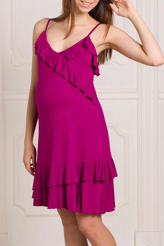 СорочкаОдежда для дома<br>Качественная ночная сорочка. Домашняя одежда, прежде всего, должна быть удобной, практичной и красивой. В наших изделиях Вы будете чувствовать себя комфортно, особенно, по вечерам.  За счет свободного кроя и эластичного материала изделие можно носить во время беременности.   Цвет: малиновый<br><br>По сезону: Всесезон<br>Размер : 44,46<br>Материал: Вискоза<br>Количество в наличии: 2