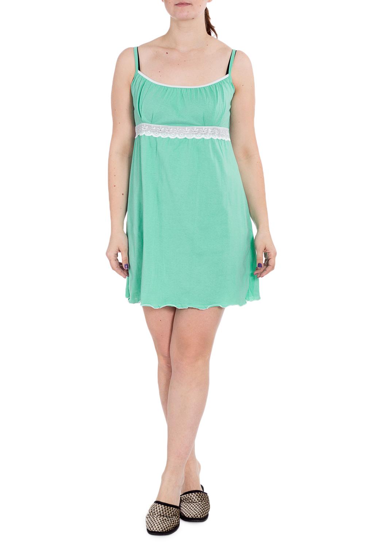 СорочкаНочные сорочки<br>Хлопковая ночная сорочка. Домашняя одежда, прежде всего, должна быть удобной, практичной и красивой. В наших изделиях Вы будете чувствовать себя комфортно, особенно, по вечерам после трудового дня.  В изделии использованы цвета: зеленый, белый  Рост девушки-фотомодели 180 см.<br><br>По длине: До колена<br>По материалу: Хлопок<br>По рисунку: Однотонные<br>По силуэту: Прямые<br>По стилю: Повседневный стиль<br>По форме: Сорочки<br>По элементам: С декором<br>По сезону: Всесезон<br>Размер : 46,48,50,52<br>Материал: Хлопок<br>Количество в наличии: 6