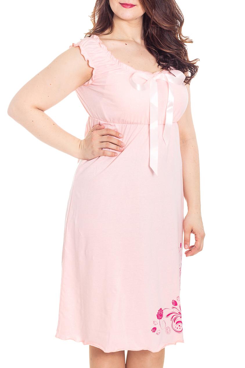 СорочкаНочные сорочки<br>Качественная ночная сорочка. Домашняя одежда, прежде всего, должна быть удобной, практичной и красивой. В наших изделиях Вы будете чувствовать себя комфортно, особенно, по вечерам после трудового дня.  Цвет: розовый  Ростовка 158-164 см.  Рост девушки-фотомодели 180 см<br><br>Горловина: С- горловина<br>По материалу: Вискоза<br>По рисунку: Однотонные,С принтом<br>По силуэту: Приталенные<br>По форме: Сорочки<br>По элементам: Без рукавов<br>По сезону: Всесезон<br>По длине: До колена<br>По стилю: Повседневный стиль,Романтический стиль<br>Размер : 42,44,46<br>Материал: Хлопок<br>Количество в наличии: 5