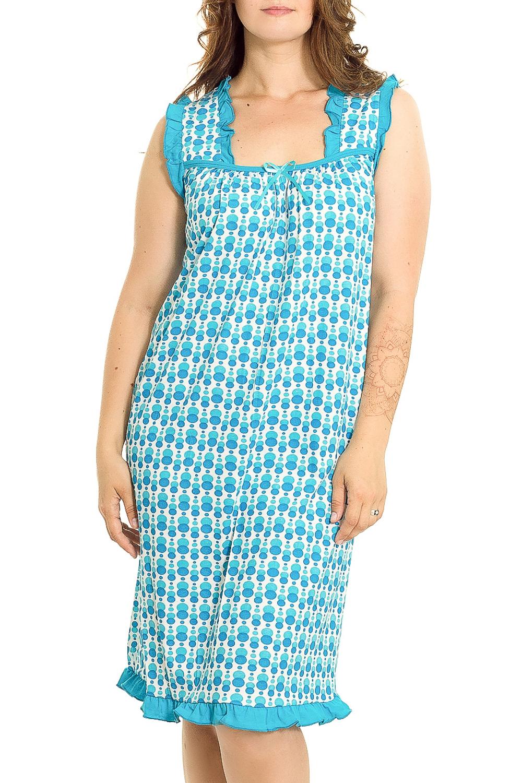 Ночная сорочкаНочные сорочки<br>Эффектная хлопковая сорочка. Домашняя одежда, прежде всего, должна быть удобной, практичной и красивой. В нашей домашней одежде Вы будете чувствовать себя комфортно, особенно, по вечерам после трудового дня.  В изделии использованы цвета: голубой, белый  Рост девушки-фотомодели 180 см.<br><br>По рисунку: Цветные,С принтом<br>По силуэту: Приталенные<br>По форме: Сорочки<br>По элементам: Без рукавов,С разрезом<br>По сезону: Всесезон<br>По длине: До колена<br>По материалу: Хлопок<br>По стилю: Повседневный стиль<br>Размер : 46,48,50<br>Материал: Хлопок<br>Количество в наличии: 3