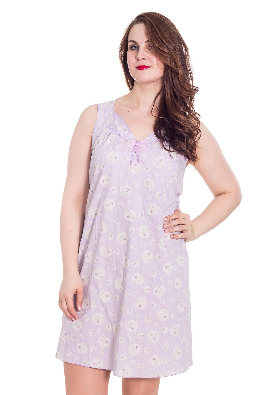 СорочкаНочные сорочки<br>Уютная ночная сорочка. Домашняя одежда, прежде всего, должна быть удобной, практичной и красивой. В тунике Вы будете чувствовать себя комфортно, особенно, по вечерам после трудового дня.  Цвет: розовый  Рост девушки-фотомодели 180 см<br><br>По стилю: Повседневные<br>По материалу: Хлопковые<br>По рисунку: С принтом (печатью),Цветные<br>По сезону: Всесезон<br>По силуэту: Свободные<br>По элементам: Без рукавов,С декором<br>По форме: Сорочки<br>По длине: Мини<br>Горловина: С- горловина<br>Размер: 48<br>Материал: 100% хлопок<br>Количество в наличии: 1