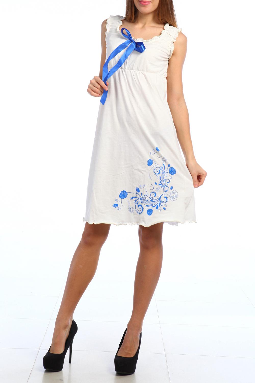 СорочкаНочные сорочки<br>Качественная ночная сорочка. Домашняя одежда, прежде всего, должна быть удобной, практичной и красивой. В наших изделиях Вы будете чувствовать себя комфортно, особенно, по вечерам после трудового дня.  Цвет: белый, голубой  Ростовка 158-164 см.<br><br>Горловина: С- горловина<br>По материалу: Вискоза<br>По рисунку: Однотонные,С принтом<br>По силуэту: Приталенные<br>По форме: Сорочки<br>По сезону: Всесезон<br>По длине: До колена<br>По стилю: Повседневный стиль<br>Размер : 46<br>Материал: Хлопок<br>Количество в наличии: 1