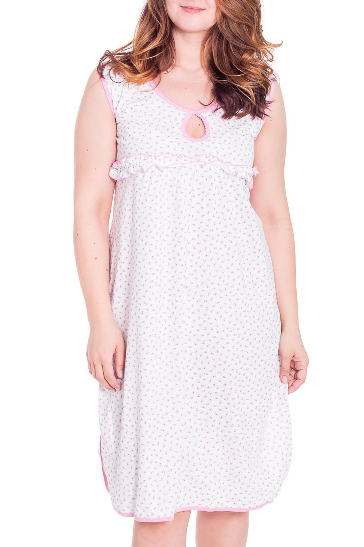 СорочкаНочные сорочки<br>Ночная сорочка без рукавов. Домашняя одежда, прежде всего, должна быть удобной, практичной и красивой. В сорочке Вы будете чувствовать себя комфортно, особенно, по вечерам после трудового дня.  Цвет: белый, розовый  Рост девушки-фотомодели 180 см<br><br>По рисунку: Цветные,С принтом<br>По элементам: Без рукавов<br>По сезону: Всесезон<br>Горловина: С- горловина<br>По форме: Сорочки<br>По длине: До колена<br>По материалу: Хлопок<br>По стилю: Повседневный стиль<br>Размер : 42<br>Материал: Хлопок<br>Количество в наличии: 1