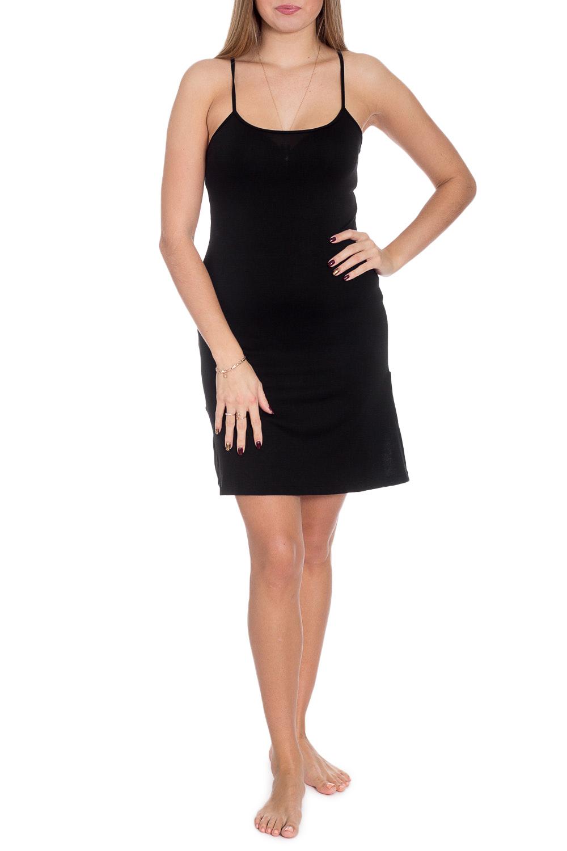 СорочкаНочные сорочки<br>Ночная сорочка на тонких бретелях. Домашняя одежда, прежде всего, должна быть удобной, практичной и красивой. В сорочке Вы будете чувствовать себя комфортно, особенно, по вечерам после трудового дня.  В изделии использованы цвета: черный  Рост девушки-фотомодели 170 см.<br><br>По длине: До колена<br>По материалу: Вискоза,Трикотаж<br>По рисунку: Однотонные<br>По стилю: Повседневный стиль<br>По сезону: Всесезон<br>Размер : 44,46,48,50<br>Материал: Вискоза<br>Количество в наличии: 5