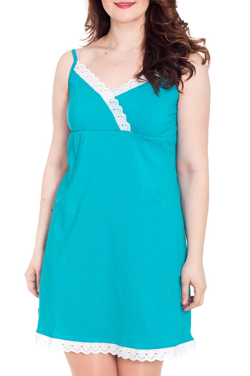 СорочкаНочные сорочки<br>Легкая ночная сорочка из хлопка для прекрасных дам.  Цвет: голубой, белый  Рост девушки-фотомодели 180 см<br><br>По стилю: Повседневные<br>По материалу: Хлопковые<br>По размеру: Маленькие размеры<br>По рисунку: Однотонные<br>По сезону: Всесезон<br>По силуэту: Приталенные<br>По элементам: Без рукавов,С декором<br>По форме: Сорочки<br>По длине: Миди<br>Размер: 46,48,50,52,54,56,58<br>Материал: 100% хлопок<br>Количество в наличии: 10