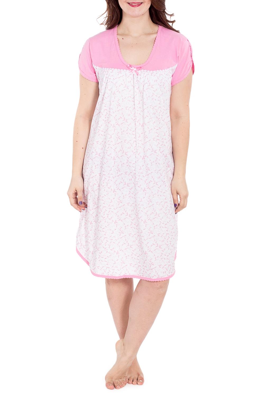 СорочкаНочные сорочки<br>Хлопковая ночная сорочка. Домашняя одежда, прежде всего, должна быть удобной, практичной и красивой. В наших изделиях Вы будете чувствовать себя комфортно, особенно, по вечерам после трудового дня.  В изделии использованы цвета: белый, розовый  Рост девушки-фотомодели 180 см<br><br>Горловина: С- горловина<br>По длине: Ниже колена<br>По материалу: Хлопок<br>По рисунку: Растительные мотивы,С принтом,Цветные<br>По силуэту: Свободные<br>По стилю: Повседневный стиль<br>По форме: Сорочки<br>По сезону: Всесезон<br>Размер : 58,62<br>Материал: Хлопок<br>Количество в наличии: 2