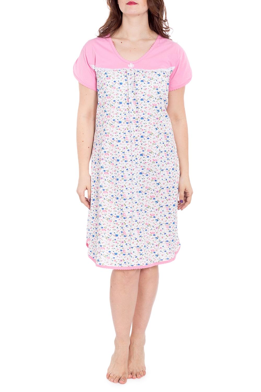 СорочкаНочные сорочки<br>Хлопковая ночная сорочка. Домашняя одежда, прежде всего, должна быть удобной, практичной и красивой. В наших изделиях Вы будете чувствовать себя комфортно, особенно, по вечерам после трудового дня.  В изделии использованы цвета: белый, розовый и др.  Рост девушки-фотомодели 180 см<br><br>Горловина: С- горловина<br>По длине: Ниже колена<br>По материалу: Хлопок<br>По рисунку: Растительные мотивы,С принтом,Цветные,Цветочные<br>По силуэту: Свободные<br>По стилю: Повседневный стиль<br>По форме: Сорочки<br>По сезону: Всесезон<br>Размер : 56<br>Материал: Хлопок<br>Количество в наличии: 1