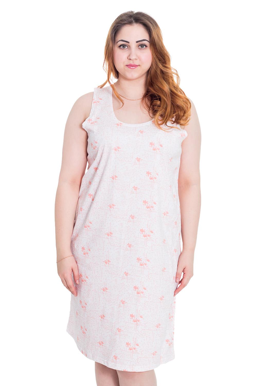 СорочкаНочные сорочки<br>Ночная сорочка без рукавов. Домашняя одежда, прежде всего, должна быть удобной, практичной и красивой. В нашей домашней одежде Вы будете чувствовать себя комфортно, особенно, по вечерам после трудового дня.  Цвет: белый, розовый  Рост девушки-фотомодели 169 см<br><br>По стилю: Повседневные<br>По материалу: Трикотажные,Хлопковые<br>По рисунку: Цветные,Цветочные,Растительные мотивы<br>По сезону: Лето<br>По силуэту: Свободные<br>По элементам: Без рукавов<br>По форме: Сорочки<br>По длине: Миди<br>Горловина: С- горловина<br>Размер: 58<br>Материал: 100% хлопок<br>Количество в наличии: 1