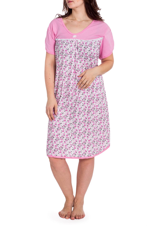 СорочкаНочные сорочки<br>Хлопковая ночная сорочка. Домашняя одежда, прежде всего, должна быть удобной, практичной и красивой. В наших изделиях Вы будете чувствовать себя комфортно, особенно, по вечерам после трудового дня.  В изделии использованы цвета: белый, розовый и др.  Рост девушки-фотомодели 180 см<br><br>Горловина: С- горловина<br>По длине: Ниже колена<br>По материалу: Хлопок<br>По рисунку: Растительные мотивы,С принтом,Цветные,Цветочные<br>По силуэту: Свободные<br>По стилю: Повседневный стиль<br>По форме: Сорочки<br>По сезону: Всесезон<br>Размер : 64<br>Материал: Хлопок<br>Количество в наличии: 1