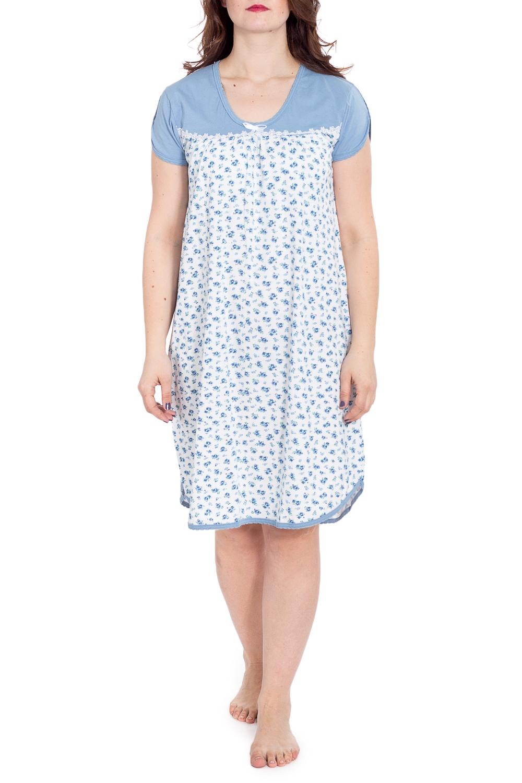 СорочкаНочные сорочки<br>Хлопковая ночная сорочка. Домашняя одежда, прежде всего, должна быть удобной, практичной и красивой. В наших изделиях Вы будете чувствовать себя комфортно, особенно, по вечерам после трудового дня.  В изделии использованы цвета: белый, голубой и др.  Рост девушки-фотомодели 180 см<br><br>Горловина: С- горловина<br>По длине: Ниже колена<br>По материалу: Хлопок<br>По рисунку: Растительные мотивы,С принтом,Цветные,Цветочные<br>По силуэту: Свободные<br>По стилю: Повседневный стиль<br>По форме: Сорочки<br>По сезону: Всесезон<br>Размер : 48<br>Материал: Хлопок<br>Количество в наличии: 1