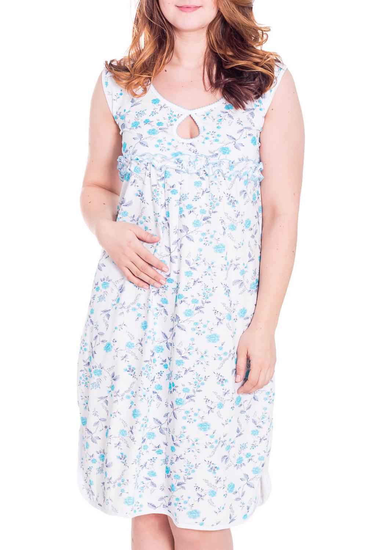 СорочкаНочные сорочки<br>Ночная сорочка без рукавов. Домашняя одежда, прежде всего, должна быть удобной, практичной и красивой. В сорочке Вы будете чувствовать себя комфортно, особенно, по вечерам после трудового дня.  Цвет: белый, голубой  Рост девушки-фотомодели 180 см<br><br>По рисунку: Цветные,С принтом<br>По силуэту: Свободные<br>По элементам: Без рукавов,С воланами и рюшами,С декором<br>По сезону: Всесезон<br>Горловина: С- горловина<br>По форме: Сорочки<br>По материалу: Хлопок<br>По стилю: Повседневный стиль<br>Размер : 52,56<br>Материал: Хлопок<br>Количество в наличии: 2