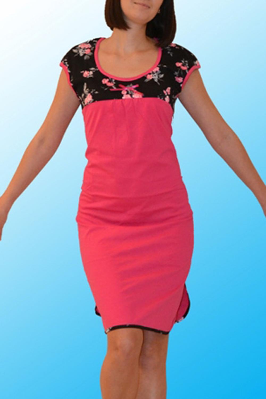 СорочкаНочные сорочки<br>Хлопковая ночная сорочка. Домашняя одежда, прежде всего, должна быть удобной, практичной и красивой. В нашей домашней одежде Вы будете чувствовать себя комфортно, особенно, по вечерам после трудового дня.  Цвет: розовый, черный  Ростовка изделия 170 см.<br><br>Горловина: С- горловина<br>По рисунку: Растительные мотивы,Цветные,Цветочные,С принтом<br>По силуэту: Приталенные<br>По форме: Сорочки<br>По элементам: С разрезом<br>По сезону: Всесезон<br>По длине: До колена<br>По материалу: Хлопок<br>По стилю: Повседневный стиль<br>Размер : 46<br>Материал: Хлопок<br>Количество в наличии: 1