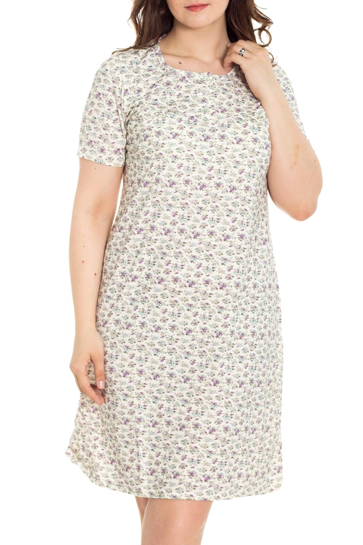 СорочкаНочные сорочки<br>Качественная ночная сорочка. Домашняя одежда, прежде всего, должна быть удобной, практичной и красивой. В наших изделиях Вы будете чувствовать себя комфортно, особенно, по вечерам после трудового дня.  Цвет: сиреневый, белый  Рост девушки-фотомодели 180 см<br><br>Горловина: С- горловина<br>По рисунку: Растительные мотивы,Цветные,Цветочные,С принтом<br>По силуэту: Приталенные<br>По форме: Сорочки<br>По сезону: Всесезон<br>По длине: До колена<br>По материалу: Хлопок<br>По стилю: Повседневный стиль<br>Размер : 52,56<br>Материал: Хлопок<br>Количество в наличии: 4
