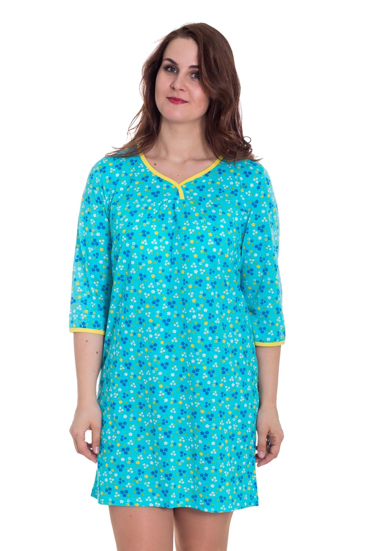 СорочкаНочные сорочки<br>Хлопковая ночная сорочка. Домашняя одежда, прежде всего, должна быть удобной, практичной и красивой. В нашей домашней одежде Вы будете чувствовать себя комфортно, особенно, по вечерам после трудового дня.  Цвет: голубой, синий, желтый  Рост девушки-фотомодели 180 см<br><br>Горловина: V- горловина<br>По длине: Миди<br>По материалу: Трикотажные,Хлопковые<br>По рисунку: Растительные мотивы,С принтом (печатью),Цветные,Цветочные<br>По стилю: Повседневные<br>По сезону: Осень,Весна<br>Размер : 48<br>Материал: Хлопок<br>Количество в наличии: 1