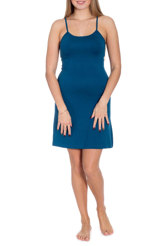 СорочкаНочные сорочки<br>Ночная сорочка на тонких бретелях. Домашняя одежда, прежде всего, должна быть удобной, практичной и красивой. В сорочке Вы будете чувствовать себя комфортно, особенно, по вечерам после трудового дня.  В изделии использованы цвета: синий  Рост девушки-фотомодели 170 см.<br><br>По длине: До колена<br>По материалу: Вискоза,Трикотаж<br>По рисунку: Однотонные<br>По стилю: Повседневный стиль<br>По сезону: Всесезон<br>Размер : 44,46,48,50,52<br>Материал: Вискоза<br>Количество в наличии: 10