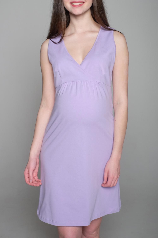 СорочкаОдежда для дома<br>Замечательная сорочка из мягкого хлопкового полотна. Очаровательным это изделие делает вставка на спинке из нежного кружева. Сорочка будет радовать на любом этапе беременности и в момент кормления малыша.  Цвет: сиреневый.<br><br>По сезону: Всесезон<br>Размер : 42,44,48,50<br>Материал: Трикотаж<br>Количество в наличии: 4