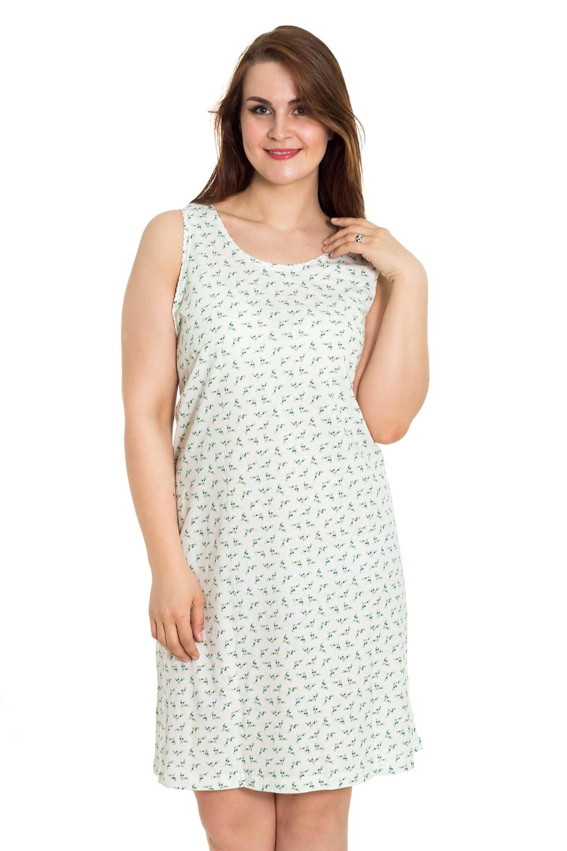 СорочкаНочные сорочки<br>Мягкая хлопковая сорочка без рукавов. Домашняя одежда, прежде всего, должна быть удобной, практичной и красивой. В сорочке Вы будете чувствовать себя комфортно, особенно, по вечерам после трудового дня.  Цвет: белый, зеленый  Рост девушки-фотомодели 180 см.<br><br>По стилю: Повседневные<br>По материалу: Хлопковые<br>По рисунку: С принтом (печатью),Цветные<br>По сезону: Всесезон<br>По силуэту: Свободные<br>По элементам: Без рукавов<br>По форме: Сорочки<br>По длине: Миди<br>Горловина: С- горловина<br>Размер: 62<br>Материал: 100% хлопок<br>Количество в наличии: 2