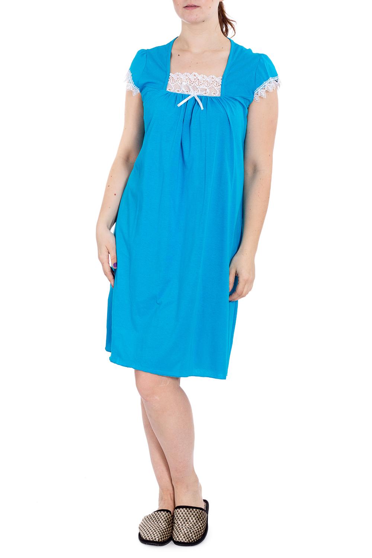 СорочкаНочные сорочки<br>Хлопковая ночная сорочка. Домашняя одежда, прежде всего, должна быть удобной, практичной и красивой. В наших изделиях Вы будете чувствовать себя комфортно, особенно, по вечерам после трудового дня.  В изделии использованы цвета: голубой, белый  Рост девушки-фотомодели 180 см.<br><br>Горловина: Квадратная горловина<br>По длине: Ниже колена<br>По материалу: Хлопок<br>По рисунку: Однотонные<br>По силуэту: Прямые<br>По стилю: Повседневный стиль<br>По форме: Сорочки<br>По элементам: С декором<br>По сезону: Всесезон<br>Размер : 48<br>Материал: Хлопок<br>Количество в наличии: 1