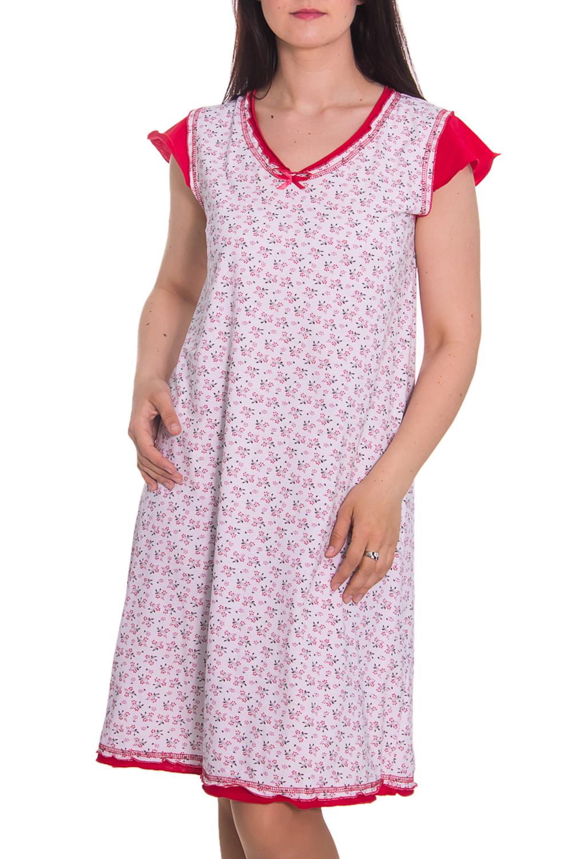 СорочкаНочные сорочки<br>Очень удобная сорочка, свободный крой, короткий рукав. Домашняя одежда, прежде всего, должна быть удобной, практичной и красивой. В сорочке Вы будете чувствовать себя комфортно, особенно, по вечерам после трудового дня.  Цвет: белый, красный  Рост девушки-фотомодели 180 см<br><br>Горловина: V- горловина<br>По рисунку: Цветные,С принтом<br>По форме: Сорочки<br>По сезону: Осень,Весна<br>По длине: До колена<br>По материалу: Хлопок<br>По стилю: Повседневный стиль<br>Размер : 48<br>Материал: Хлопок<br>Количество в наличии: 1