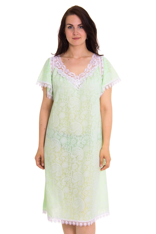СорочкаНочные сорочки<br>Великолепная ночная сорочка из хлопка с декором из гипюра.  Цвет: зеленый  Рост девушки-фотомодели 180 см<br><br>Горловина: V- горловина<br>По длине: До колена<br>По материалу: Кружево,Хлопок<br>По рисунку: Однотонные,Цветочные<br>По стилю: Молодежный стиль,Повседневный стиль<br>По форме: Сорочки<br>По сезону: Всесезон<br>По элементам: С декором<br>Размер : 72<br>Материал: Хлопок<br>Количество в наличии: 1