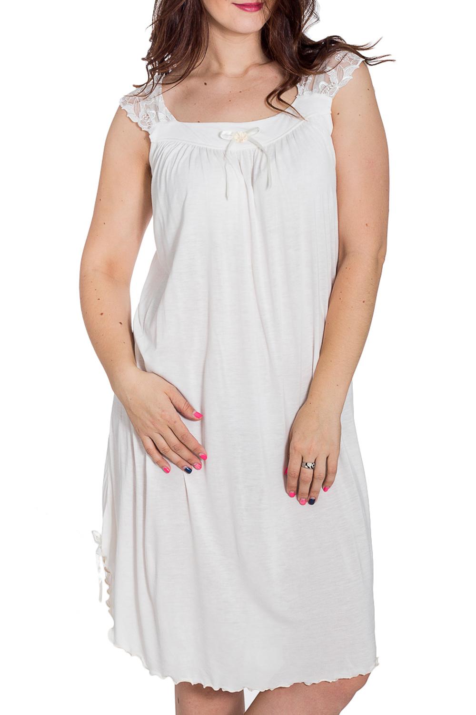 СорочкаНочные сорочки<br>Уютная ночная сорочка из мягкой вискозы. Домашняя одежда, прежде всего, должна быть удобной, практичной и красивой. В наших изделиях Вы будете чувствовать себя комфортно, особенно, по вечерам после трудового дня.  Цвет: белый  Рост девушки-фотомодели 180 см.<br><br>Горловина: С- горловина<br>По длине: Ниже колена<br>По материалу: Вискоза<br>По рисунку: Однотонные<br>По силуэту: Свободные<br>По стилю: Повседневный стиль<br>По форме: Сорочки<br>По элементам: С декором,С разрезом<br>По сезону: Всесезон<br>Размер : 56<br>Материал: Вискоза + Гипюр<br>Количество в наличии: 1