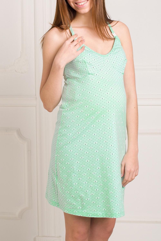 СорочкаОдежда для дома<br>Сорочка выполнена из эластичного трикотажного полотна, с отстегивающимся лифом. Удобна для кормления. Спинка оформлена перекрещенными лямками и фигурным вырезом в виде капельки.  За счет свободного кроя и эластичного материала изделие можно носить во время беременности  Цвет: светло-зеленый.<br><br>По сезону: Всесезон<br>Размер : 42,46,50,52<br>Материал: Трикотаж<br>Количество в наличии: 4
