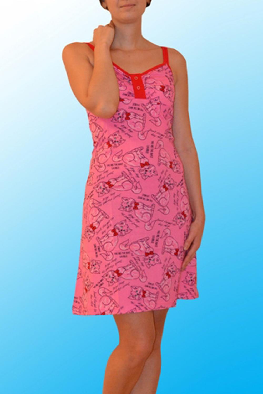 СорочкаНочные сорочки<br>Хлопковая ночная сорочка. Домашняя одежда, прежде всего, должна быть удобной, практичной и красивой. В нашей домашней одежде Вы будете чувствовать себя комфортно, особенно, по вечерам после трудового дня.  Цвет: розовый, красный  Ростовка изделия 170 см.<br><br>Горловина: С- горловина<br>По рисунку: Цветные,С принтом<br>По силуэту: Приталенные<br>По форме: Сорочки<br>По элементам: Без рукавов<br>По сезону: Всесезон<br>По длине: До колена<br>По материалу: Хлопок<br>По стилю: Повседневный стиль<br>Размер : 46,48,50<br>Материал: Хлопок<br>Количество в наличии: 3