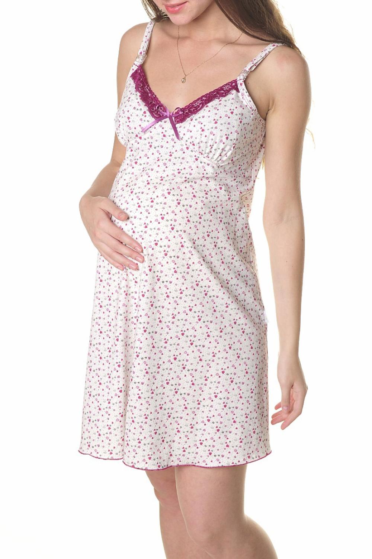 СорочкаОдежда для дома<br>Легкая ночная сорочка для молодой мамы.  Цвет: белый, бордовый.<br><br>По сезону: Всесезон<br>Размер : 44,48,50<br>Материал: Хлопок<br>Количество в наличии: 3
