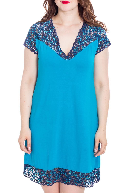 СорочкаНочные сорочки<br>Великолепная ночная сорочка из нежной ткани с декором из гипюра.  Цвет: голубой, синий  Рост девушки-фотомодели 180 см<br><br>Горловина: V- горловина<br>По материалу: Вискоза,Гипюр<br>По рисунку: Однотонные<br>По форме: Сорочки<br>По сезону: Всесезон<br>По стилю: Повседневный стиль<br>Размер : 56<br>Материал: Вискоза + Гипюр<br>Количество в наличии: 1