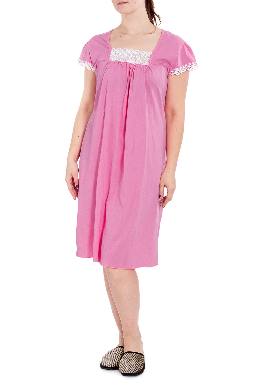 СорочкаНочные сорочки<br>Хлопковая ночная сорочка. Домашняя одежда, прежде всего, должна быть удобной, практичной и красивой. В наших изделиях Вы будете чувствовать себя комфортно, особенно, по вечерам после трудового дня.  В изделии использованы цвета: розовый, белый  Рост девушки-фотомодели 180 см.<br><br>Горловина: Квадратная горловина<br>По длине: Ниже колена<br>По материалу: Хлопок<br>По рисунку: Однотонные<br>По силуэту: Прямые<br>По стилю: Повседневный стиль<br>По форме: Сорочки<br>По элементам: С декором<br>По сезону: Всесезон<br>Размер : 58,60<br>Материал: Хлопок<br>Количество в наличии: 3