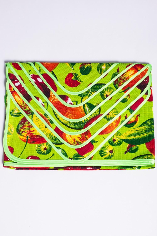 Набор столовыйСтоловые наборы<br>Столовый набор с ярким принтом.  В набор входят:  скатерть 105*150см - 1 шт. салфетки 30*30см - 6 шт.  Цвет: зеленый, салатовый, оранжевый, красный<br><br>Размер : UNI<br>Материал: Хлопок<br>Количество в наличии: 3