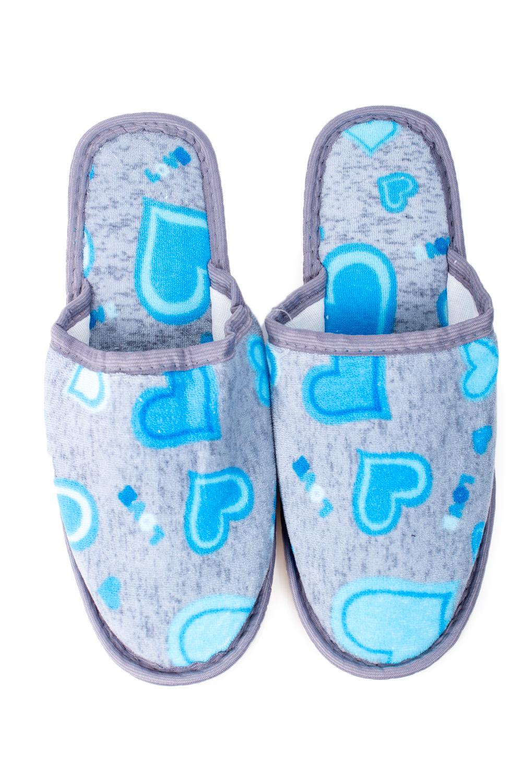 ТапочкиДомашняя обувь<br>Яркие и мягкие домашние тапочки подарят не только комфорт, но и отличное настроение после трудового дня.   В изделии использованы цвета: серый, голубой<br><br>По материалу: Текстиль<br>По рисунку: Цветные,С принтом<br>По форме: Тапочки<br>По сезону: Всесезон<br>Размер : 36-37<br>Материал: Текстиль<br>Количество в наличии: 3