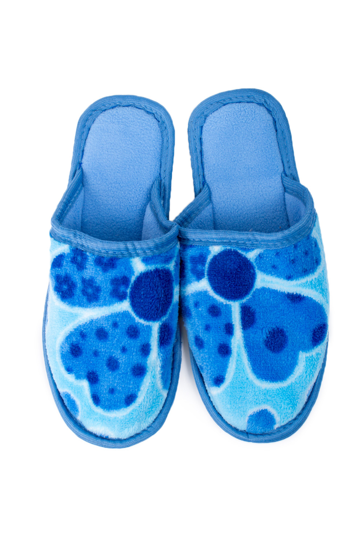 ТапочкиДомашняя обувь<br>Яркие и мягкие домашние тапочки подарят не только комфорт, но и отличное настроение после трудового дня.   В изделии использованы цвета: голубой, синий<br><br>По материалу: Текстиль<br>По рисунку: Растительные мотивы,Цветные,Цветочные,С принтом<br>По форме: Тапочки<br>По сезону: Всесезон<br>Размер : 35-36,36-37<br>Материал: Велсофт<br>Количество в наличии: 3