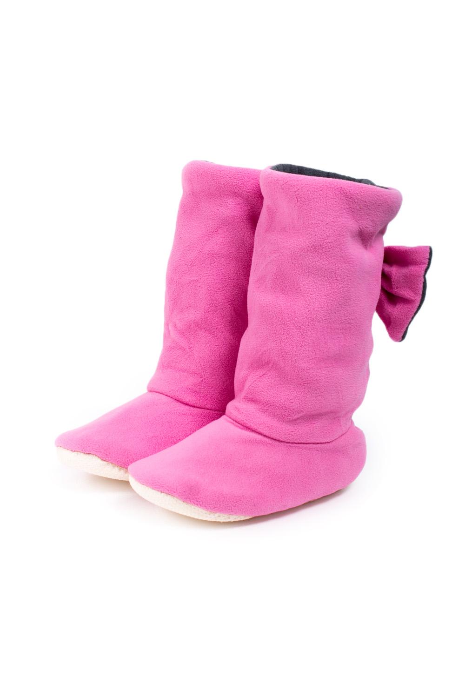 ТапочкиДомашняя обувь<br>Теплые и мягкие домашние тапочки подарят не только комфорт, но и отличное настроение после трудового дня.   В изделии использованы цвета: розовый, серый<br><br>По рисунку: Цветные<br>По форме: Угги<br>По сезону: Всесезон<br>Размер : 38-40<br>Материал: Флис<br>Количество в наличии: 5