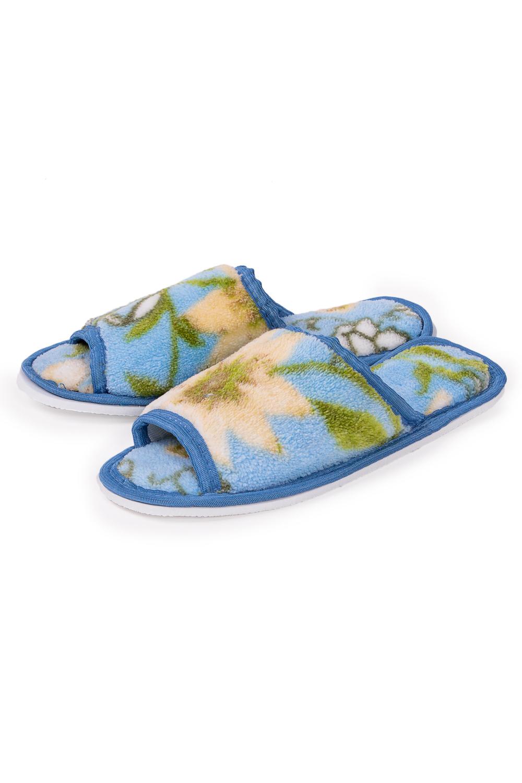 ТапочкиДомашняя обувь<br>Теплые и мягкие домашние тапочки подарят не только комфорт, но и отличное настроение после трудового дня.   В изделии использованы цвета: голубой и др.<br><br>По рисунку: Растительные мотивы,Цветные,Цветочные,С принтом<br>По форме: Тапочки<br>По сезону: Всесезон<br>Размер : 35,36-37,38-39<br>Материал: Велсофт<br>Количество в наличии: 8