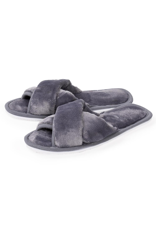 ТапочкиДомашняя обувь<br>Теплые и мягкие домашние тапочки подарят не только комфорт, но и отличное настроение после трудового дня.   В изделии использованы цвета: серый<br><br>По рисунку: Однотонные<br>По форме: Тапочки<br>По сезону: Всесезон<br>Размер : 35,36-37<br>Материал: Велсофт<br>Количество в наличии: 2