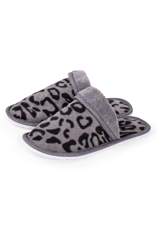 ТапочкиДомашняя обувь<br>Теплые и мягкие домашние тапочки подарят не только комфорт, но и отличное настроение после трудового дня.   В изделии использованы цвета: серый, черный<br><br>По рисунку: Животные мотивы,Леопард,Цветные,С принтом<br>По форме: Тапочки<br>По сезону: Всесезон<br>Размер : 35-36,36-37,38-39<br>Материал: Флис<br>Количество в наличии: 6