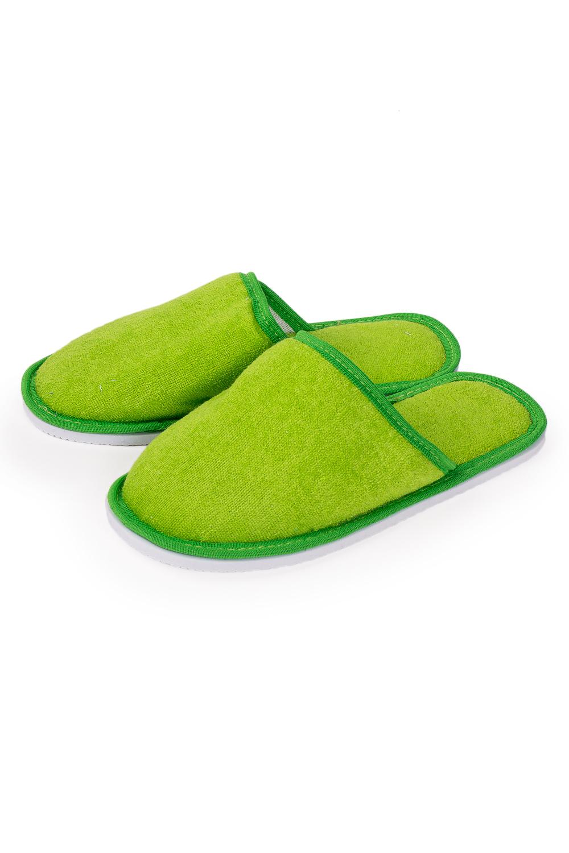 ТапочкиДомашняя обувь<br>Теплые и мягкие домашние тапочки подарят не только комфорт, но и отличное настроение после трудового дня.   В изделии использованы цвета: салатовый<br><br>По рисунку: Однотонные<br>По форме: Тапочки<br>По сезону: Всесезон<br>Размер : 35-36,36-37<br>Материал: Махровое полотно<br>Количество в наличии: 4